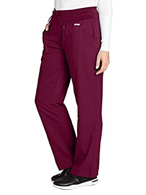 Grey's Anatomy Active 4276 Yoga Pant Wine S Petite