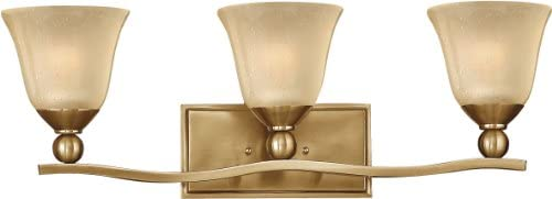 Hinkley 5892BR, Bolla Reversible Glass Wall Vanity Lighting, 2 Light, 200 Total Watts, Bronze