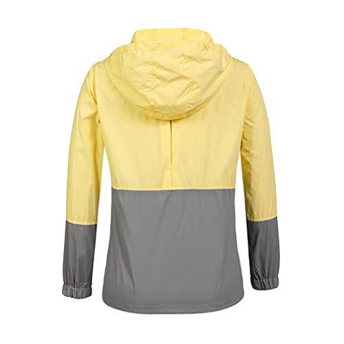 Fangcheng Antipioggia Active Con Cappuccio grigio Giacca Trench Donna Raincoats Giallo Leggera Impermeabile Outdoor qHxXrFtHw