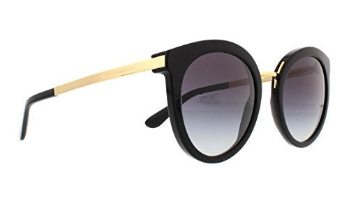 D&G Dolce & Gabbana Women's 0DG4268 Square Sunglasses, Black Gradient, 52 mm