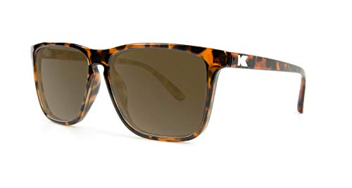 Brown Frame Tortoise (Knockaround Fast Lanes Polarized Sunglasses With Tortoise Shell Frames/Brown Lenses)