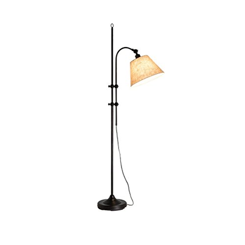E27 Fishing Lamp Tall Pole Standing Industrial Up Light Downlight Lamp Creative Vertical Table Lamp Black Adjustable 158-185cm