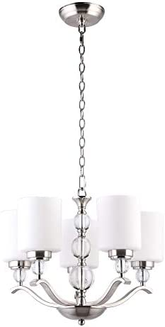 CO-Z 5 Light Brushed Nickel Chandelier