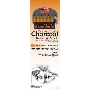 Generals Pencil G557-6A Charcoal Drawing Pencil Set