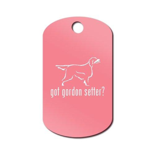 Got Gordon Setter Engraved Keychain / GI Tag Mister Petlife Pink (Setter Keychain)
