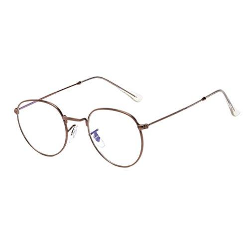 Mode Sol de for Women Round Oversized de Brown con Sport UV Estuche Calidad Designer Metal Zhhlinyuan Gafas Sunglasses Men Protection Anteojos qdUY1qw