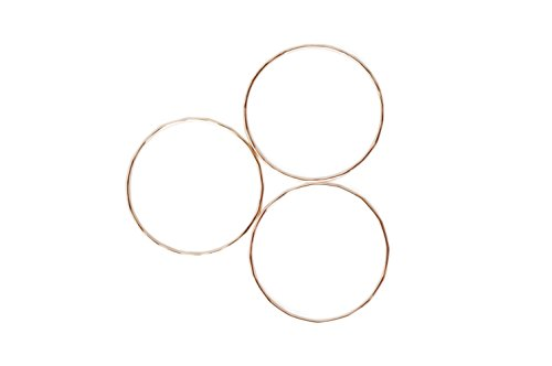 HONEYCAT Super Skinny Hammered Stacking Rings Trio Set | Minimalist, Delicate Jewelry by HONEYCAT (Image #1)