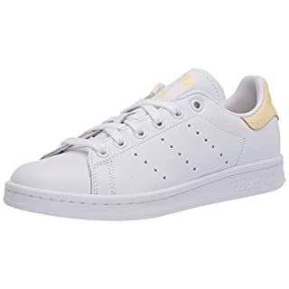 adidas Originals mens Stan Smith Sneaker, Footwear White/Footwear White/Easy Yellow, 8.5 US