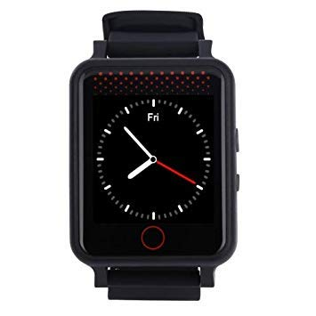Uniqus V36 GSM GPS Tracking Communicator Tracker Watch, GPS + WiFi, 5-Mode Real Time Tracking, SOS, Remote Reboot, 2-Way Audio Calls, Sports, Sedentary Reminder, Heart Rate and Blood Pressure Monitoring(Black)
