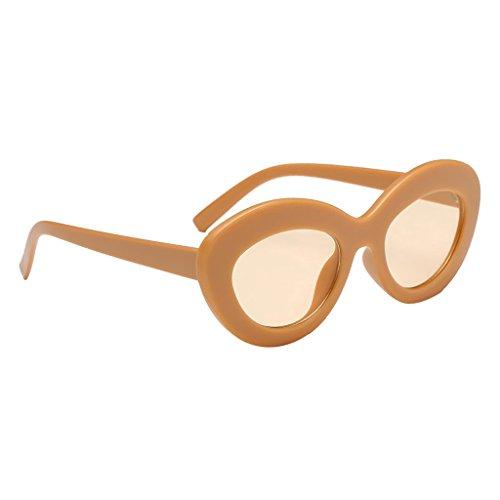 Sol Baoblaze Retro Sunglasses 07 400 Estilo 02 de Gafa UV Hombre Mujer para de Plástico Marco YErEw8