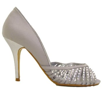 7eb16b603682 Silver Diamante Wedding Bridal Bridesmaid Shoes  Amazon.co.uk  Shoes   Bags