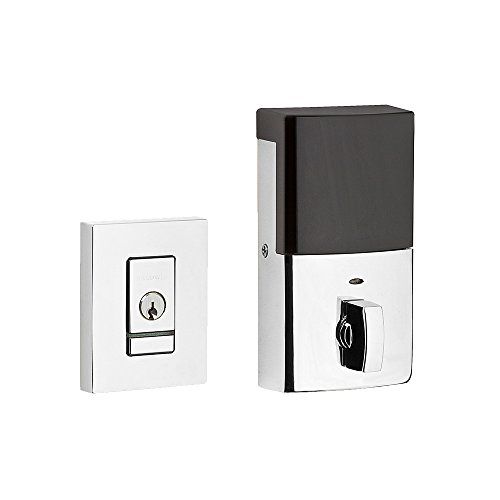 Baldwin 8220.B Evolved Contemporary Single Cylinder Deadbolt with Bluetooth Tech, Polished Chrome