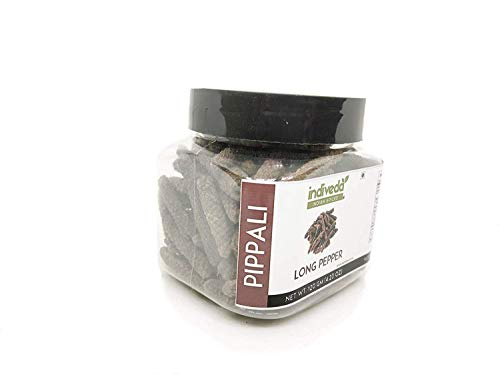 Long Pepper (Indian Pippali Piper Longum) by Indiveda, 120 Grams Sealed Air Tight Spice Jar