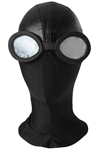 Newhui Into The Spider-Verse Peter Parker Spider Noir Cosplay Mask Goggles Headgear Black ()