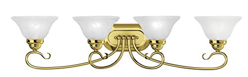 02 Bath Polished Brass - Livex Lighting 6104-02 Coronado 4 Bath Light, Polished Brass