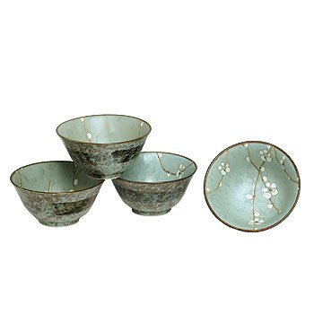 Japanese Spring Blossom Flared Bowl Set includes 4 Bowls
