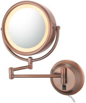 Kimball & Young Diablo Bronze Reversible 5x/1x Plug-In Lighted Makeup Mirror – 95365 Review