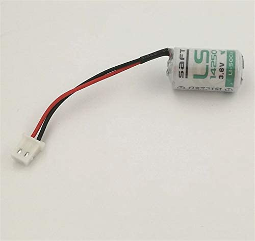 FCQLR 1PCS Compatible for SAFT LS14250 3.6V with Plug can Replace KTS ER14250 Delta PLC Lithium Battery
