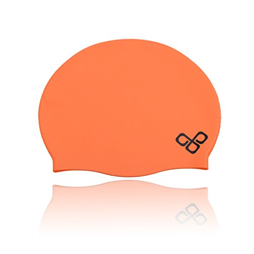 Vitchelo Silicone Waterproof Swim Pool & Bathing Cap for Adult Men Women Kids Junior Boys or Girls by Competition Sporti Olympic Swimming Caps That Keep Hair Dry - Thick & Short Hair Rubber Swim Hat