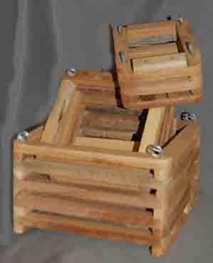 Slat Baskets, Cedar, 3 set