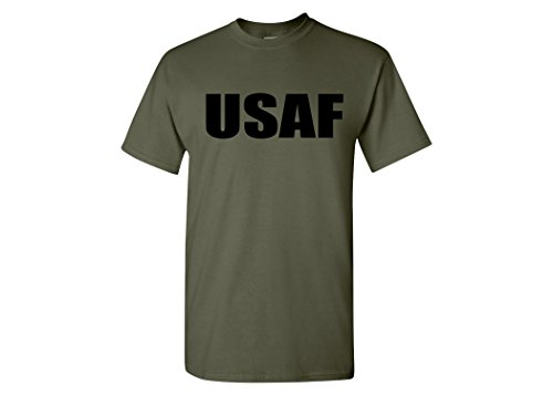Pt Physical Training Shirt (Military Green USAF United States Air Force PT T-Shirt Tee Shirt (L))