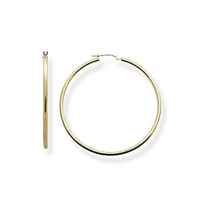 "Amazon Extra XL 14k Gold Hoop Earrings 2"" or 50mm"