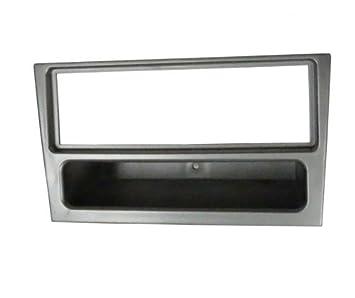 Aerzetix C2353 - Adaptador de autorradio de 1 DIN con marco embellecedor, color gris oscuro: Amazon.es: Coche y moto