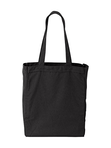 Liberty Bags Susan Cotton Canvas Tote (Black) (ALL) Trendy Canvas Tote