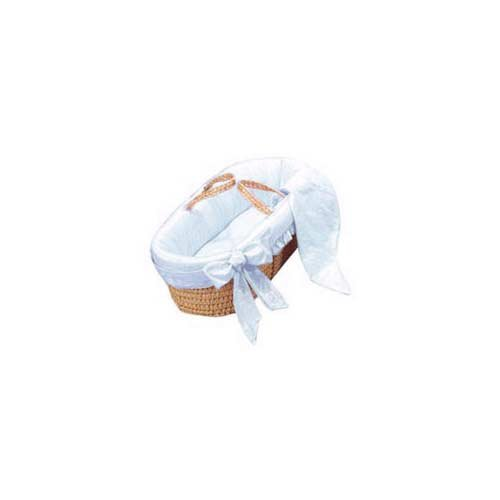 Baby Doll Bedding Primma Donna Moses Basket, Blue by BabyDoll Bedding