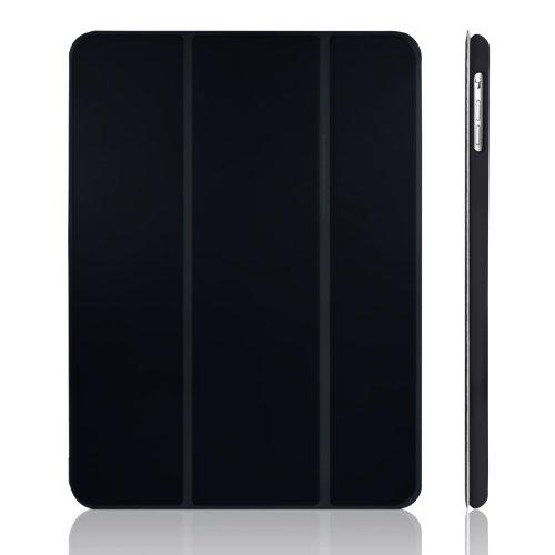JETech iPad Air Slim-Fit Smart Case Hülle Schutzhülle Tasche mit Ständer Funktion und Auto-Einschlaf/Aufwach für Apple iPad 5 (Schwarz) - 0460