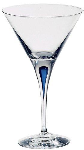 Orrefors Intermezzo Blue 7 Ounce Martini Glass
