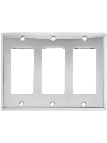 - Classic Triple Gang Gfi Cover Plate In Polished Chrome