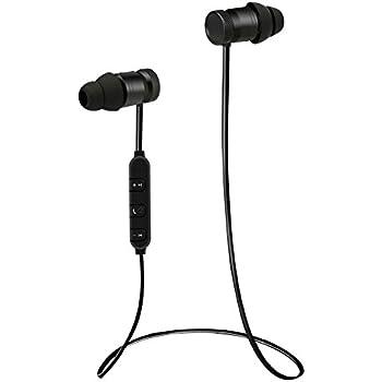 brotrade Bluetooth Headset - Nice Earbuds - Best Wireless Earbuds Magnet Attraction - Heavy Bass Earphones Wearable V4.0 Hands Free Headphones - Black