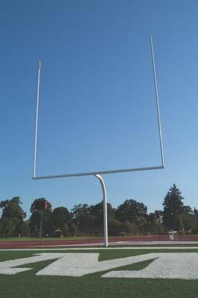 Stackhouse Aluminum College Gooseneck Goal Posts - 1 Pair