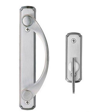 Andersen® Newbury 2-panel Gliding Door Hardware Set in Satin Nickel by Andersen