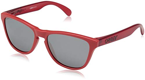 (Oakley Boys' Frogskins Xs Non-Polarized Iridium Round Sunglasses, Matte Transparent Red, 53.0 mm)