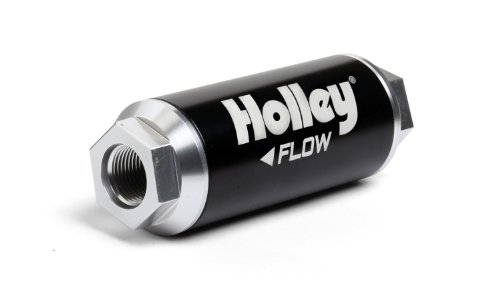 Holley 162-572 HP -12AN Inlet / Outlet 100 Micron 260 GPH Billet Fuel Filter