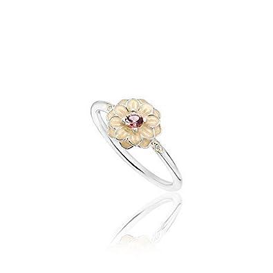 9721ec85a Pandora Blooming Dahlia, Cream Enamel, Clear CZ, Blush Pink Crystals  190985NBP-60