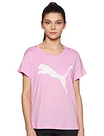 PUMA Women's Active Logo TEE, Pale Pink, XS