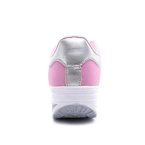 Comodo Scarpe Dimagrante Moda Sneaker amp; Piattaforma Scarpe Scarpe Casual Running Outdoor Rosa Donna Jogging Tennis Passeggio 5wB7xCq7A