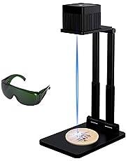 Domary Mini gravador a laser Máquina de gravura a laser BT portátil Cortador a laser de mesa de alta precisão com óculos Suporte ajustável 100x100mm Área de trabalho Suporte Foto Imagem Assinatura Texto para Artesanato DIY
