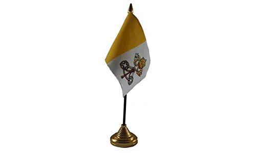 Las Banderas ciudad del Vaticano Bandera de mesa: Amazon.es: Jardín