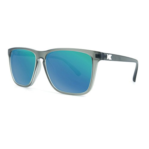 Knockaround Fast Lanes Polarized Sunglasses, Frosted Grey Frames/Green Moonshine - Glasses Frame Frosted