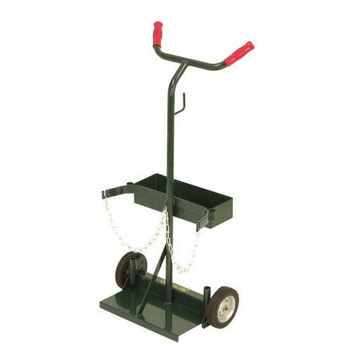 Harper Trucks 140-71 Deluxe Welding Cylinder Hand Truck, 39-Inch High x 19-Inch Wide With 6'' x 1.5'' Solid Rubber Wheels