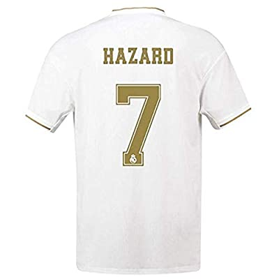 XYEMT New Real Madrid Home 2019/2020 Season 7 Hazard Mens Socce Jersey Color White