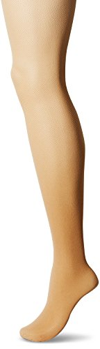 Hanes Silk Reflections Women's Perfect Nudes Micro-net Control Top Pantyhose, transparent, MEDIUM