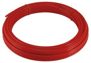 4mm x 2.5mm Polyurethane Air pipe/tube - 1 metre length red Pneumax