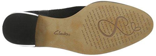 Clarks Breccan Shine, Botas Camperas para Mujer Negro (Black Suede)