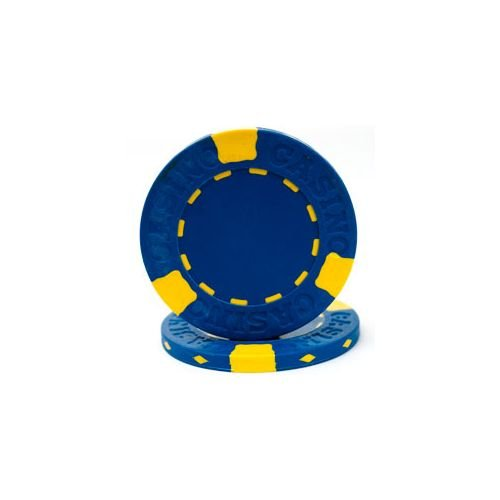 - Trademark Poker Pro Clay Casino 50 Poker Chips, 13gm, Blue