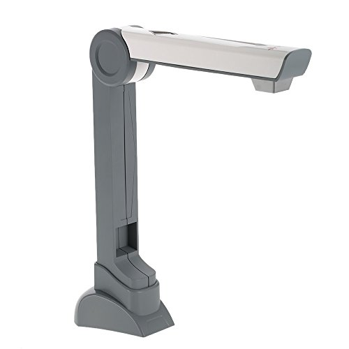 Walmeck Camera Scanner Portable Document Camera Scanner (5 Mega-pixel) High Definition Image Capture Device Video Record LED Light for Files Photos Real Objects by Walmeck